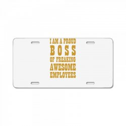 Iam A Proud Boss (gold) License Plate | Artistshot