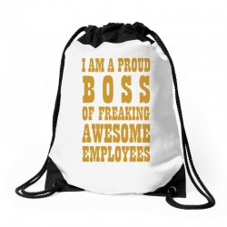Iam A Proud Boss (gold) Drawstring Bags | Artistshot
