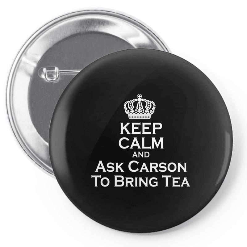 Ask Carson (white) Pin-back Button | Artistshot