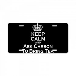 Ask Carson (white) License Plate | Artistshot
