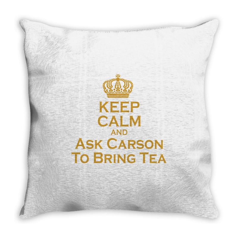 Ask Carson (gold) Throw Pillow | Artistshot