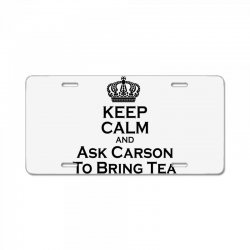 Ask Carson (black) License Plate | Artistshot