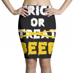 Trick or Treat (white) Pencil Skirts | Artistshot