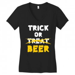 Trick or Treat (white) Women's V-Neck T-Shirt | Artistshot