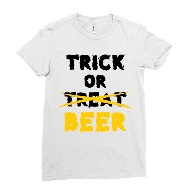Trick Or Treat (black) Ladies Fitted T-shirt | Artistshot