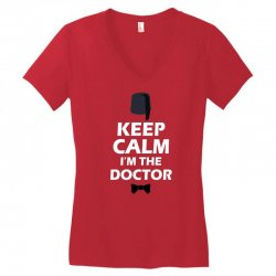 Keep Calm I'm Doctor (white) Women's V-Neck T-Shirt | Artistshot