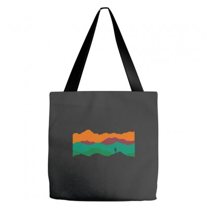 Colorful Mountain Tote Bags Designed By Equinetee