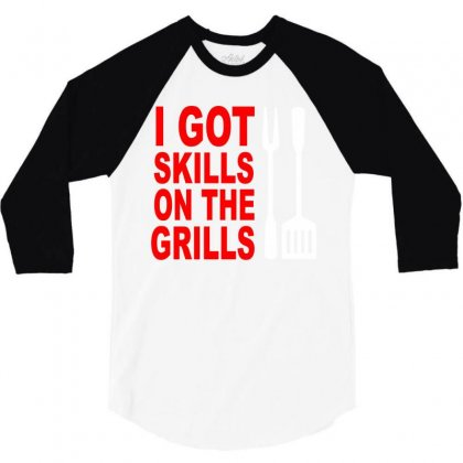 Got Skills On The Grills Apron 3/4 Sleeve Shirt Designed By Suryanaagus068