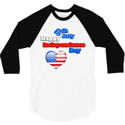 Happy Independence Day 2019 3/4 Sleeve Shirt Designed By Anrora