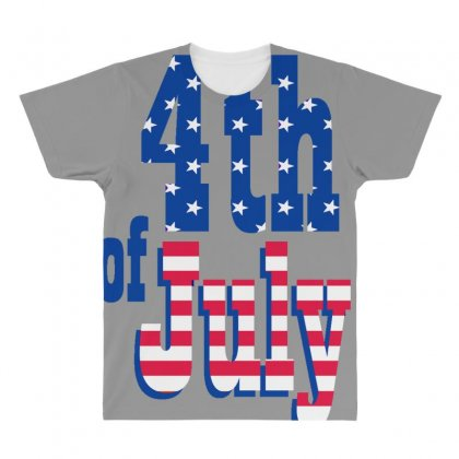 4th Of July All Over Men's T-shirt Designed By Anrora