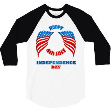 Happy 4th July Independence Day 2019 3/4 Sleeve Shirt Designed By Anrora