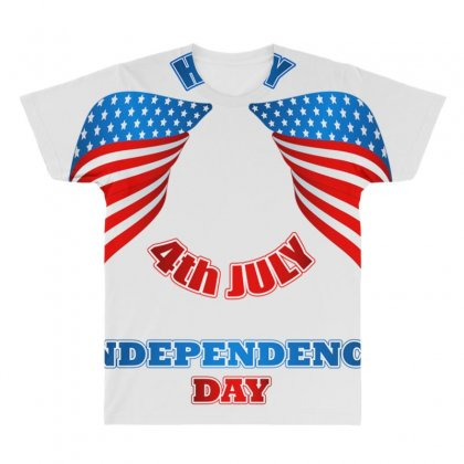 Happy 4th July Independence Day 2019 All Over Men's T-shirt Designed By Anrora