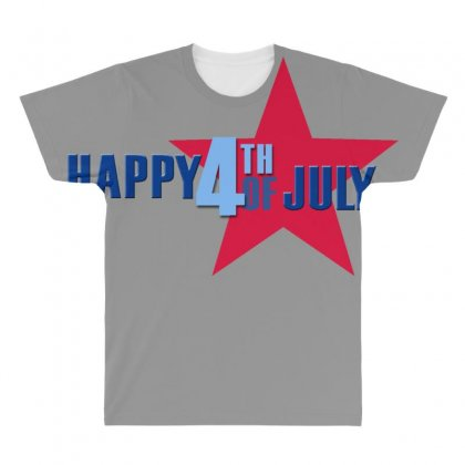 Happy Independence Day 2019 All Over Men's T-shirt Designed By Anrora