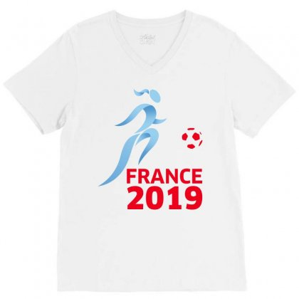Women World Cup 2019 V-neck Tee Designed By Anrora