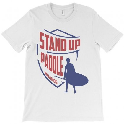 Stand Up Paddle T-shirt Designed By Cidolopez