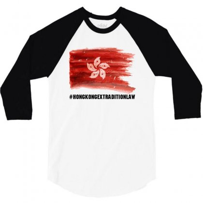 Hong Kong Extradition Law For Dark 3/4 Sleeve Shirt Designed By Sengul