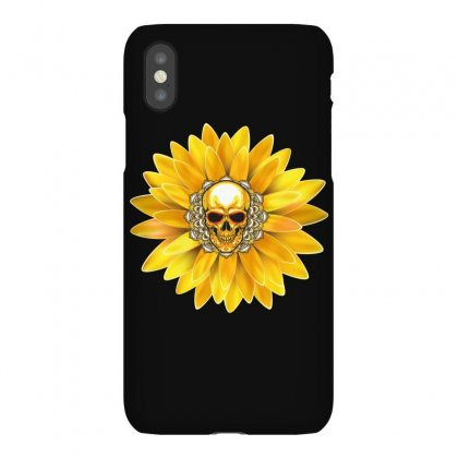 Skull And Flower Iphonex Case Designed By Wizarts