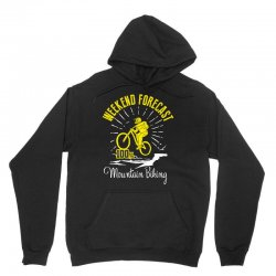 weekend forecast mountain biking Unisex Hoodie | Artistshot