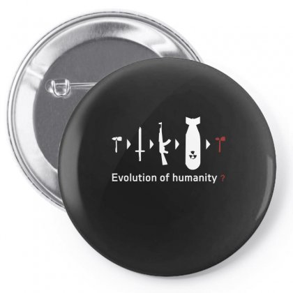 Funny Darwin Evolution Of Humanity Military Army Warfare Pin-back Button Designed By Funtee