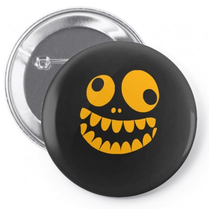 Funny Crazy Monster Face Pin-back Button Designed By Funtee