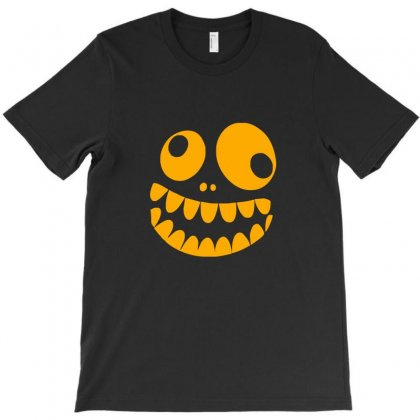 Funny Crazy Monster Face T-shirt Designed By Funtee