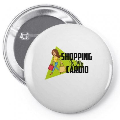 Shopping Is My Cardio Pin-back Button Designed By Wizarts