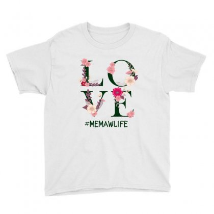 Love Memawlife Youth Tee Designed By Wizarts