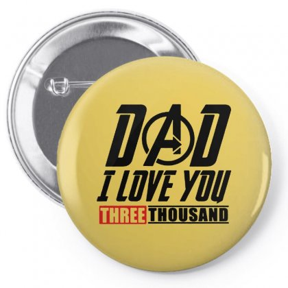 I Love You 3000 Three Thousand Times Pin-back Button Designed By Arum
