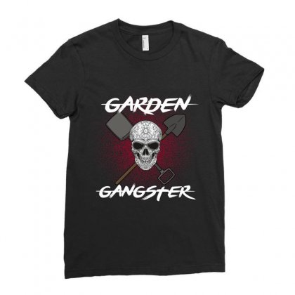 Garden Gangster Ladies Fitted T-shirt Designed By Wizarts