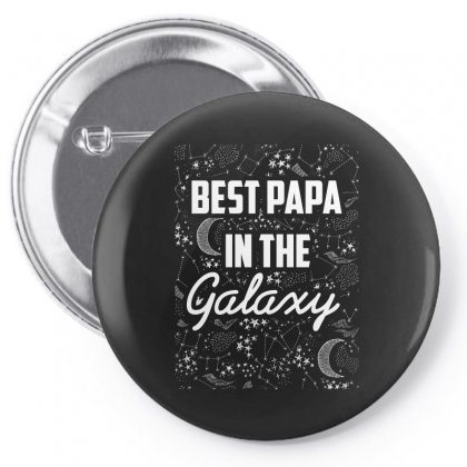 Best Papa In The Galaxy Pin-back Button Designed By Wizarts