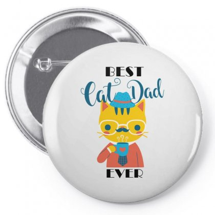 Best Cat Dad Ever Pin-back Button Designed By Wizarts