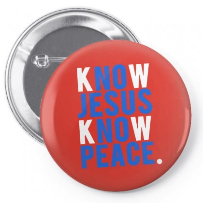 Know Jesus Know Peace Merch Pin-back Button Designed By Arum