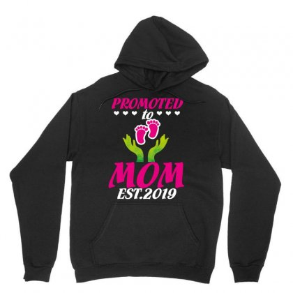 Promoted To Mom Est. 2019 Unisex Hoodie Designed By Wizarts