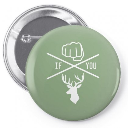 Knuck If You Buck Tee Pin-back Button Designed By Arum