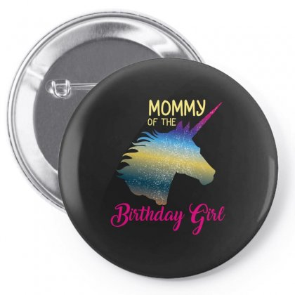Mommy Of The Birthday Girl Pin-back Button Designed By Wizarts