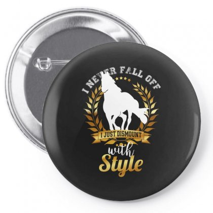 I Never Fall Off I Just Dismount With Style Pin-back Button Designed By Wizarts