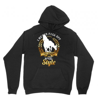 I Never Fall Off I Just Dismount With Style Unisex Hoodie Designed By Wizarts
