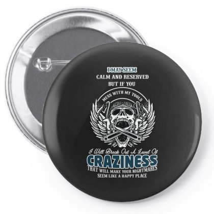Craziness Pin-back Button Designed By Wizarts