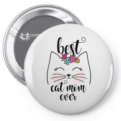 Best Cat Mom Ever Pin-back Button Designed By Wizarts