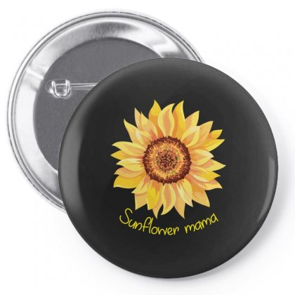 Sunflower Mama Pin-back Button Designed By Wizarts