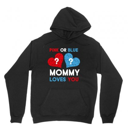 Pink Or Blue Mommy Loves You Unisex Hoodie Designed By Wizarts