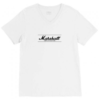Marshall Amps V-neck Tee Designed By Arum