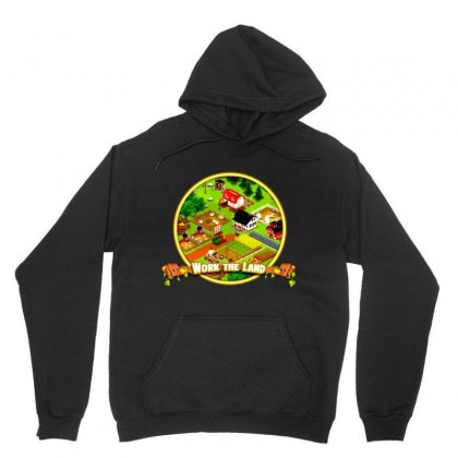 Work The Land Unisex Hoodie Designed By Andi's