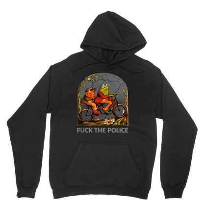 Cool Frog And Toad   Fck The Police Unisex Hoodie Designed By Blqs Apparel