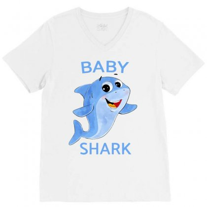 Baby Cute Shark V-neck Tee Designed By Akin