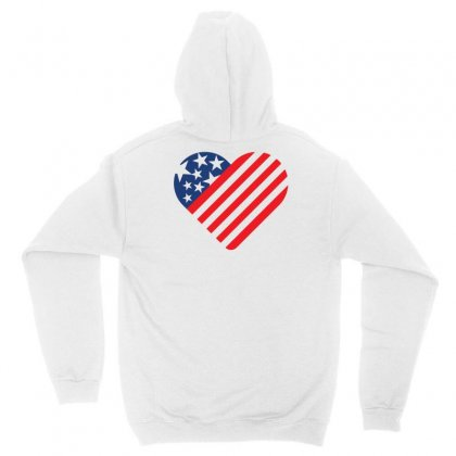 Usa Flag As Creative Love Sign Unisex Hoodie Designed By Lion Star Art