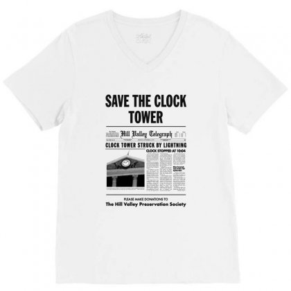 Save The Clock Tower V-neck Tee Designed By Irawan