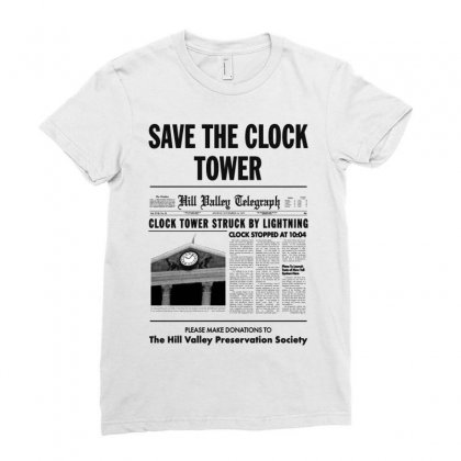 Save The Clock Tower Ladies Fitted T-shirt Designed By Irawan