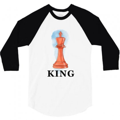 King For White 3/4 Sleeve Shirt Designed By Akin