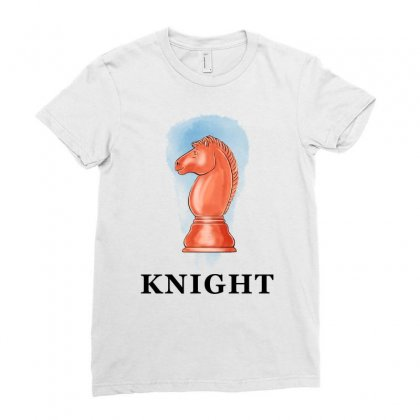 Knight For Light Ladies Fitted T-shirt Designed By Akin